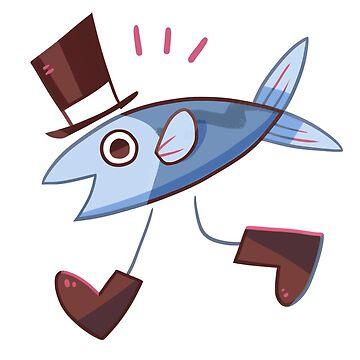 Dapper Fish by happycricketbox