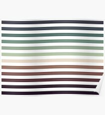 striped pattern - color stripes - autumn colors Poster