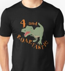 Four And Roartastic Birthday & Fun Apparel Shirts & Gifts  Unisex T-Shirt