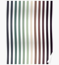 vertical stripes - autumn color striped pattern Poster