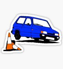 Reliant Robin on tilt - deep blue Sticker