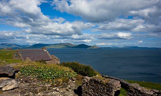 Old Village, Ballinskelligs,Co. Kerry Ireland. by Teddy  Sugrue
