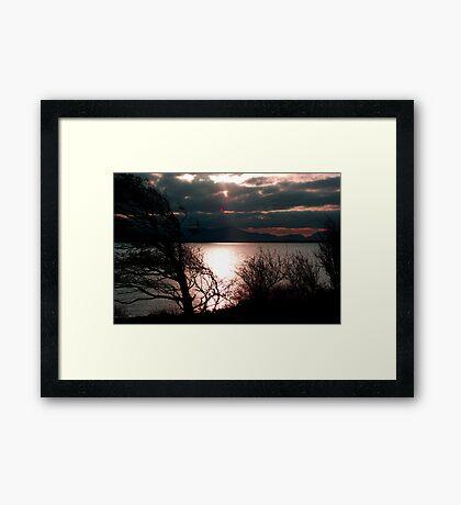 Inch Sunset Framed Print