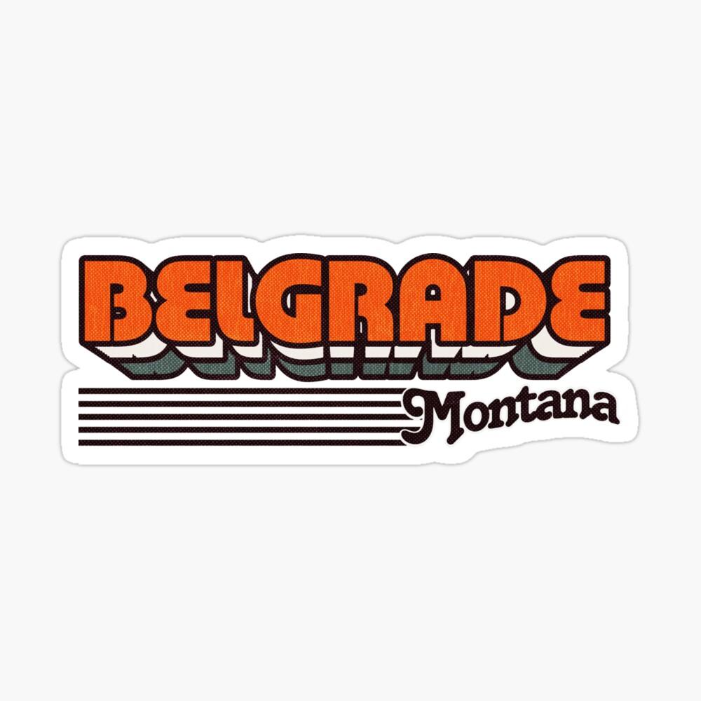 Belgrade, Montana | Retro Stripes Sticker