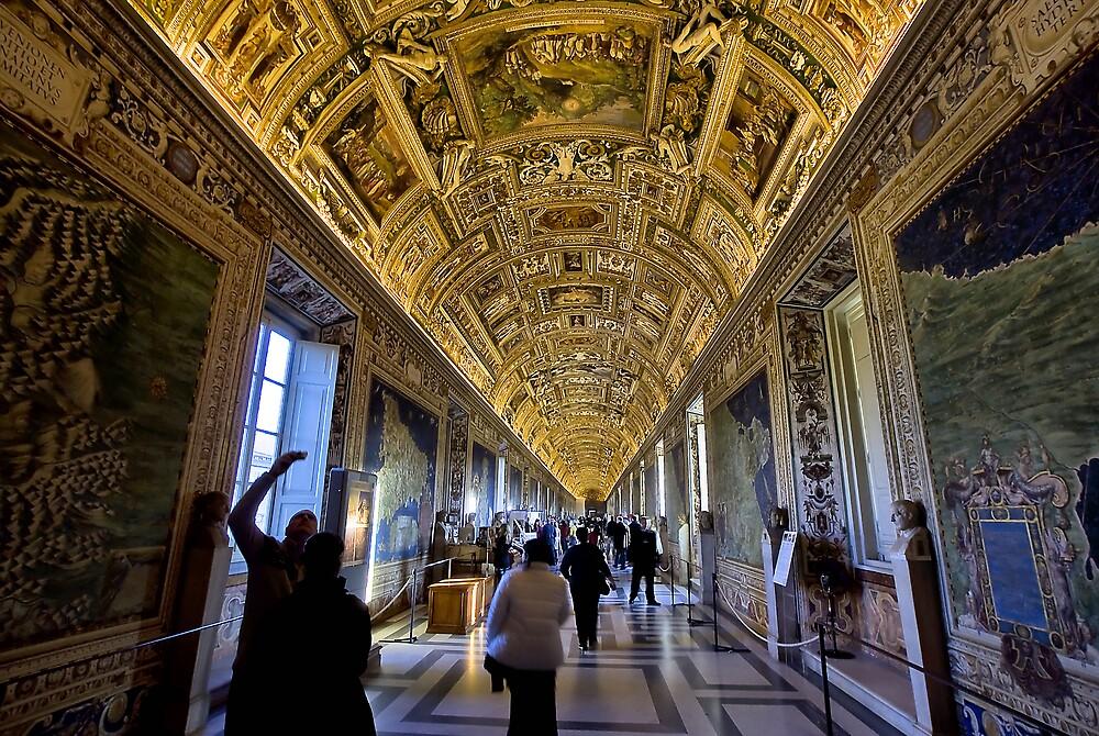 Hall of Maps - Vatican City by Paul Louis Villani