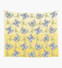 Butterflies and Flowers Wall Tapestry