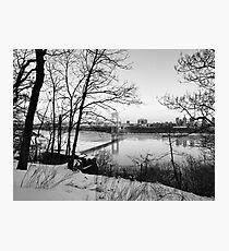 Lámina fotográfica El puente George Washington en la ciudad de Nueva York
