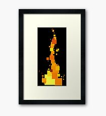 Rectangular Fire Framed Print