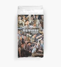 Newsies Broadway Musical Collage Duvet Cover