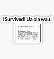 Hawaii Missile Text Alert Scare Sticker