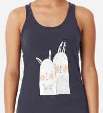 Two rabbits in love Racerback Tank Top