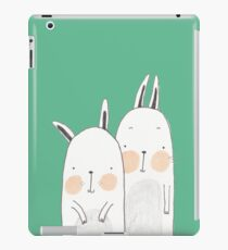 Two rabbits in love iPad Case/Skin