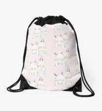 Two rabbits in love Drawstring Bag