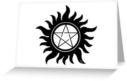 Anti Possession Symbol Supernatural Greeting Cards By Tgdigital