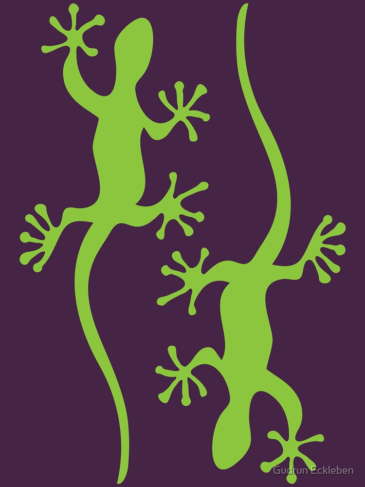 Two green geckos Tee by gudders