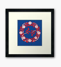 A WREATH OF FLOWERS - RED Framed Print