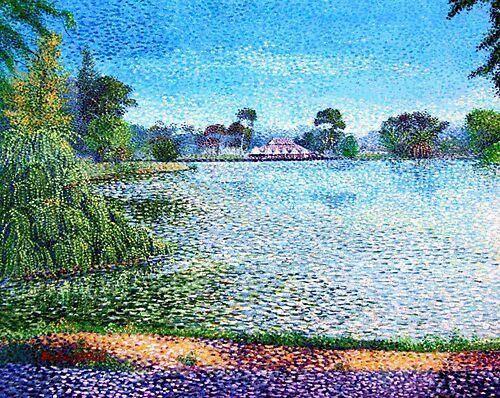 Lake Weroona Bendigo by Ellen Lee Osterfield
