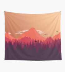 Atmospheric Mountains: Highest Quality Vector! Wall Tapestry
