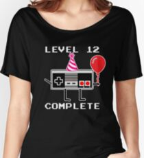 Level 12 Complete, 12th Birthday Gift Idea Women's Relaxed Fit T-Shirt
