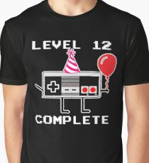 Level 12 Complete, 12th Birthday Gift Idea Graphic T-Shirt