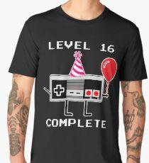 Level 16 Complete, 16th Birthday Gift Idea Men's Premium T-Shirt