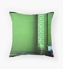 Blue Couch Green Wall Throw Pillow