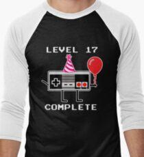 Level 17 Complete, 17th Birthday Gift Idea Men's Baseball ¾ T-Shirt
