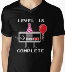 Level 18 Complete, 18th Birthday Gift Idea Men's V-Neck T-Shirt