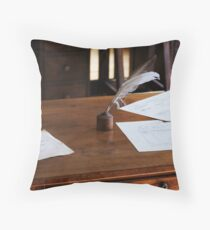 quill and paper Throw Pillow
