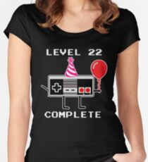 Level 22 Complete, 22th Birthday Gift Idea Women's Fitted Scoop T-Shirt
