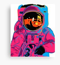 Trippy rainbow Astronaut Canvas Print