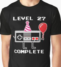 Level 27 Complete 27th Birthday Gift Idea Graphic T-Shirt
