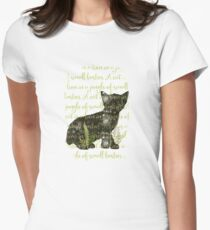 A cat is a lion in a jungle of small bushes Womens Fitted T-Shirt