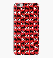Repeated Pattern of Black and Lanseer Newfies iPhone Case