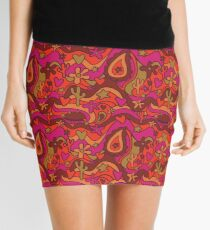 70's Paisley Print Mini Skirt