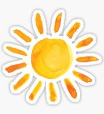 Pegatina Cepillado acuarela pintada Sun