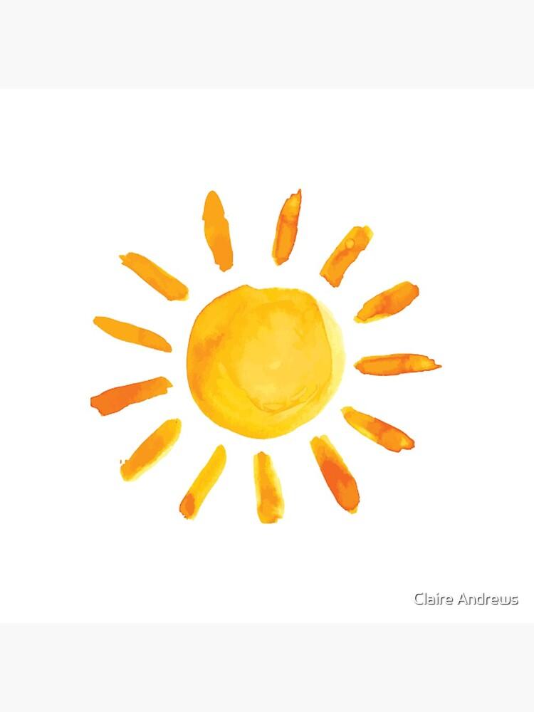Gebürstete Aquarell gemalte Sonne von Claireandrewss