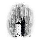 Inktober 2017 Day 29 - Cat in the Rain by Aaron Gonzalez