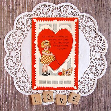 Vintage Valentine Postcard by collageDP