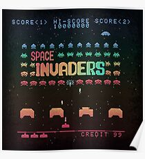Invader Space Poster