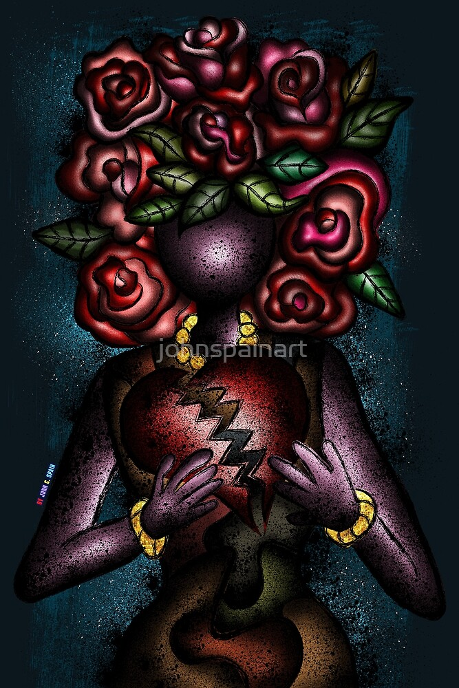 Roses and Heartbreaks by johnspainart