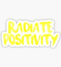 Strahlen Sie den Positivitäts-Gelb-Aufkleber aus Sticker