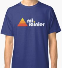 Mt Rainier Retro Vintage Design Classic T-Shirt