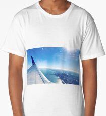 Chicago Along Lake Michigan  Long T-Shirt