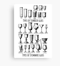Types of glass Canvas Print
