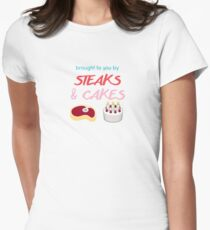 #steaksandcakes Women's Fitted T-Shirt