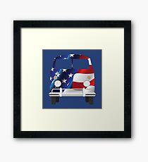 USA Flag Camper Van Framed Print
