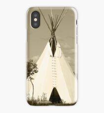 Tepee in the Prairies iPhone Case/Skin