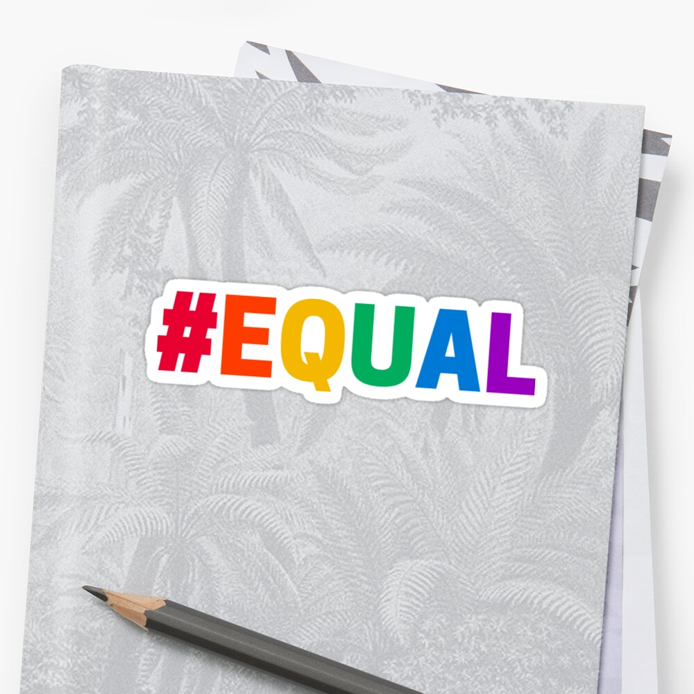 RAINBOW HASHTAG EQUAL Sticker