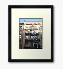 Building, windows, fire escape, floors, New York City Framed Print